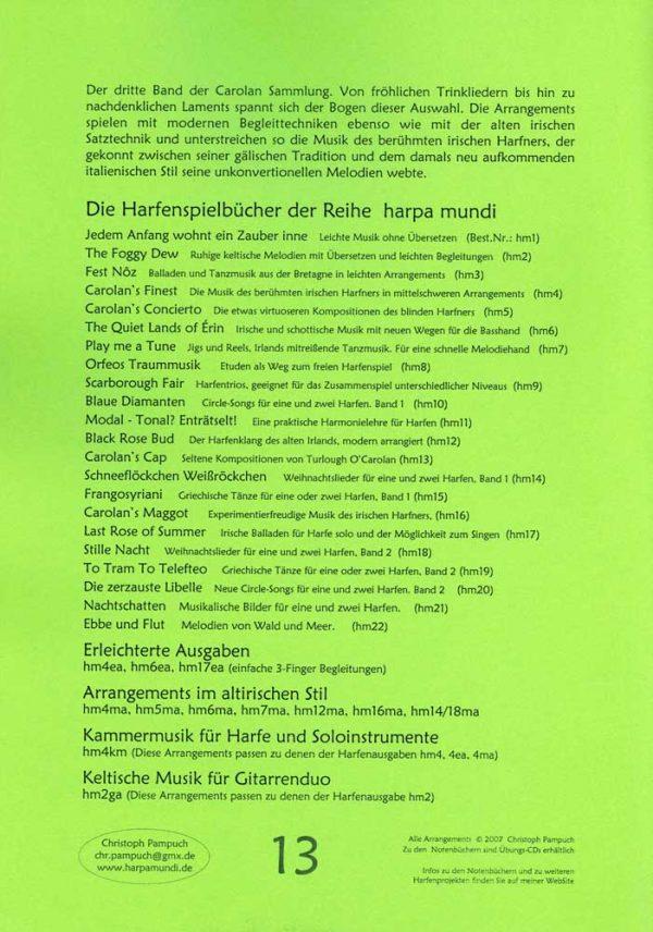 harpa mundi Carolans Cap Harfe