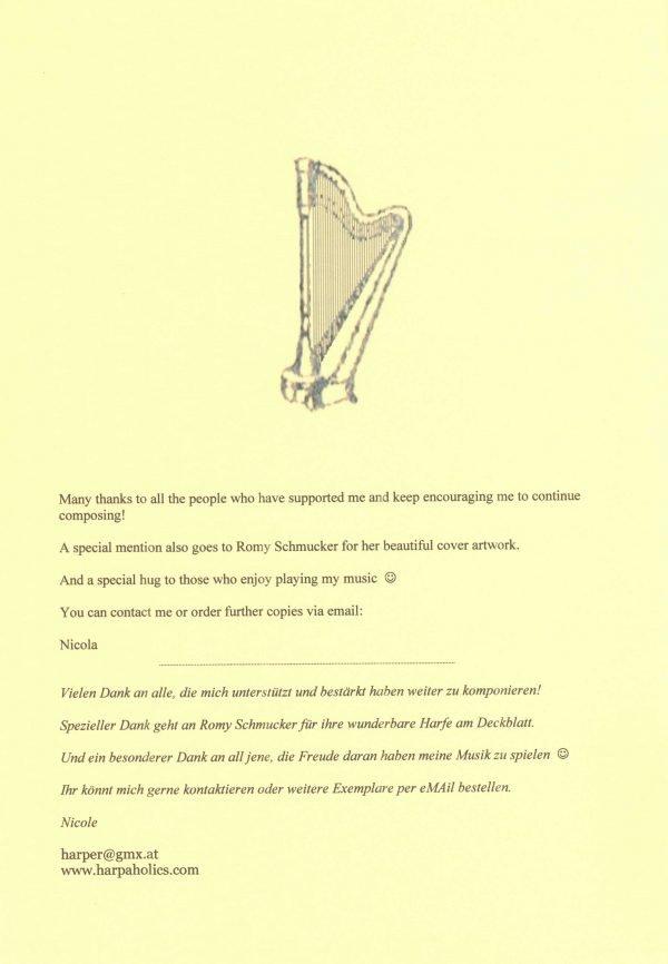 Peniston-Bird Spielend voran 2 Harfe