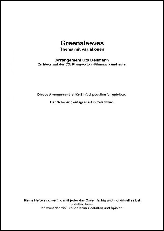 Greensleeves Uta Deilmann Harfe