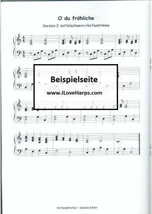 Harfenplätzchen - Weihnachtslieder in verschiedenen Schierigkeitsstufen | Susanne Kaiser Harfe